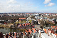 Lubeck. Panorama on Lubeck old town, Schleswig-Holstein, Germany Stock Image
