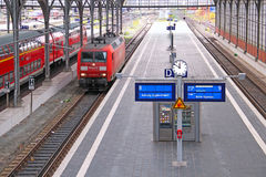 Lubeck railway station Royalty Free Stock Image