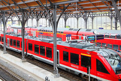 Lubeck railway station Stock Photo