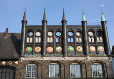 Lubeck. Town Hall in Lubeck old town, Schleswig-Holstein, Germany Royalty Free Stock Photos