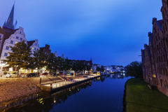 Lubeck and Trave River Stock Image