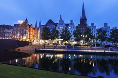 Lubeck and Trave River Royalty Free Stock Image