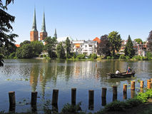 Lubeck waterfront Royalty Free Stock Images