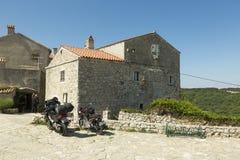 Lubenice in Insel Cres in Kroatien Stockbilder