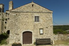 Lubenice in Insel Cres in Kroatien Stockfotos