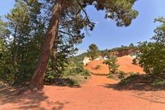 Luberon色土在法国 免版税图库摄影