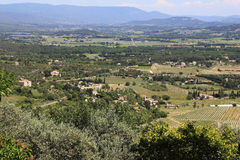 Luberon dal i Provence Arkivbilder