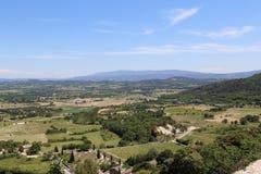 Luberon dal i Provence Arkivfoto