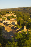 In the Luberon, the Menerbes village & x28;Vaucluse - France& x29;. Stock Photos