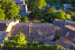 In the Luberon, the Menerbes village & x28;Vaucluse - France& x29;. Royalty Free Stock Images