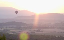 Luberon Sunrise 3. Sunrising over the Luberon, Provence, France royalty free stock photography