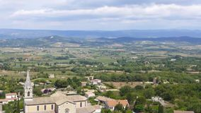 Luberon valley from Bonnieux stock video footage