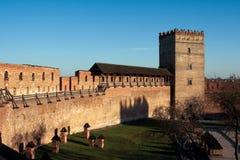 Lubert castle in Lutsk. Styrova Tower and wall of the old Lubert castle built in 1340. Lutsk, Ukraine Stock Image