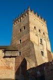 Lubert castle in Lutsk. Central tower, bridge and wall of the old Lubert castle in Lutsk, Ukraine Stock Photo