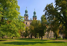Lubiaz Monastry barocco style in Lower Silesia. Poland Royalty Free Stock Photos