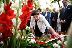 Polish Prime Minister Beata Szydlo Stock Images