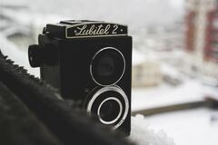 Lubitel 2 vintage camera Stock Images