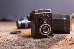 Lubitel2. An old russian reflex camera, twin lens Royalty Free Stock Images