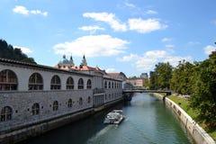 Lublana Slovenien Arkivfoto
