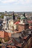 Lublin auf die Oberseite Lizenzfreie Stockfotos