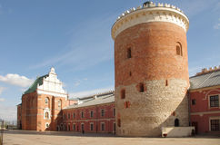Lublin castle courtyard Stock Images