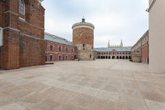 Lublin Castle courtyard, Poland Royalty Free Stock Photography