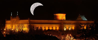 Lublin castle at night Stock Images