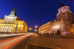 Lublin City Hall and Krakowska Gate Royalty Free Stock Photography