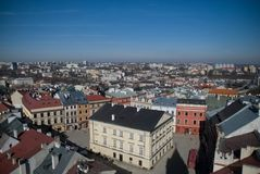 Lublin City streetview Stock Photography