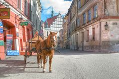 Lublin City streetview Royalty Free Stock Image