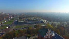 Lublin - die zentrale Straße, Luftgesamtlänge stock video footage