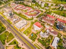 Lublin do ar Distrito Czuby visto do ar Foto de Stock