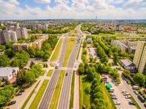 Lublin do ar Distrito Czuby visto do ar Imagem de Stock