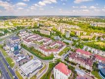 Lublin do ar Distrito Czuby visto do ar Fotografia de Stock
