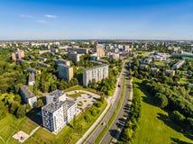 Lublin do ar Opinião da tubulação do distrito do ar Imagem de Stock