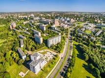 Lublin do ar Opinião da tubulação do distrito do ar Imagens de Stock