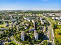 Lublin do ar Opinião de Czuby do distrito do ar Imagem de Stock
