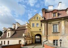 Lublin es una ciudad en Polonia del este Ciudad vieja con las casas en el estilo del renacimiento de Lublin Calles estrechas, lin imagenes de archivo