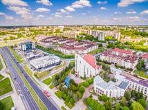 Lublin - fotos do zangão Distrito Czuby visto do ar Fotografia de Stock