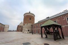 Lublin kasztelu podwórze, Polska zdjęcie royalty free