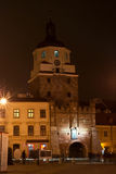 Lublin at night Stock Image