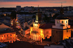 Lublin by Night Royalty Free Stock Image
