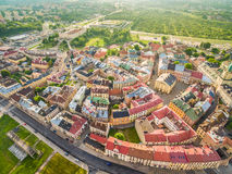 Lublin - the old city from the air. Attractions Lublin view from the air. Stock Image