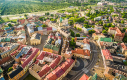 Lublin - the old city from the air. Attractions Lublin - view from the air. Stock Images