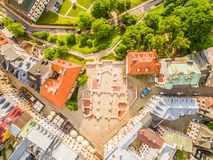 Lublin - the old city from the air. After Farze Square and other tourist attractions - the view from the air. Royalty Free Stock Photos