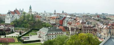 Lublin Old Town Panorama royalty free stock photo
