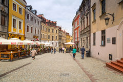Lublin old town in Poland. Old town in the city center of Lublin on 13 July 2013. Lublin is the largest Polish city east of the Vistula River with historic Royalty Free Stock Image