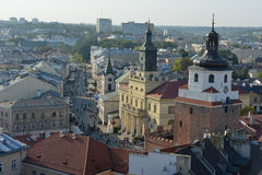 Lublin - old town Royalty Free Stock Photos