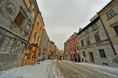 Lublin old town view Stock Images