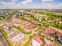 Lublin - photos of the drone. District Czuby seen from the air. Royalty Free Stock Photo